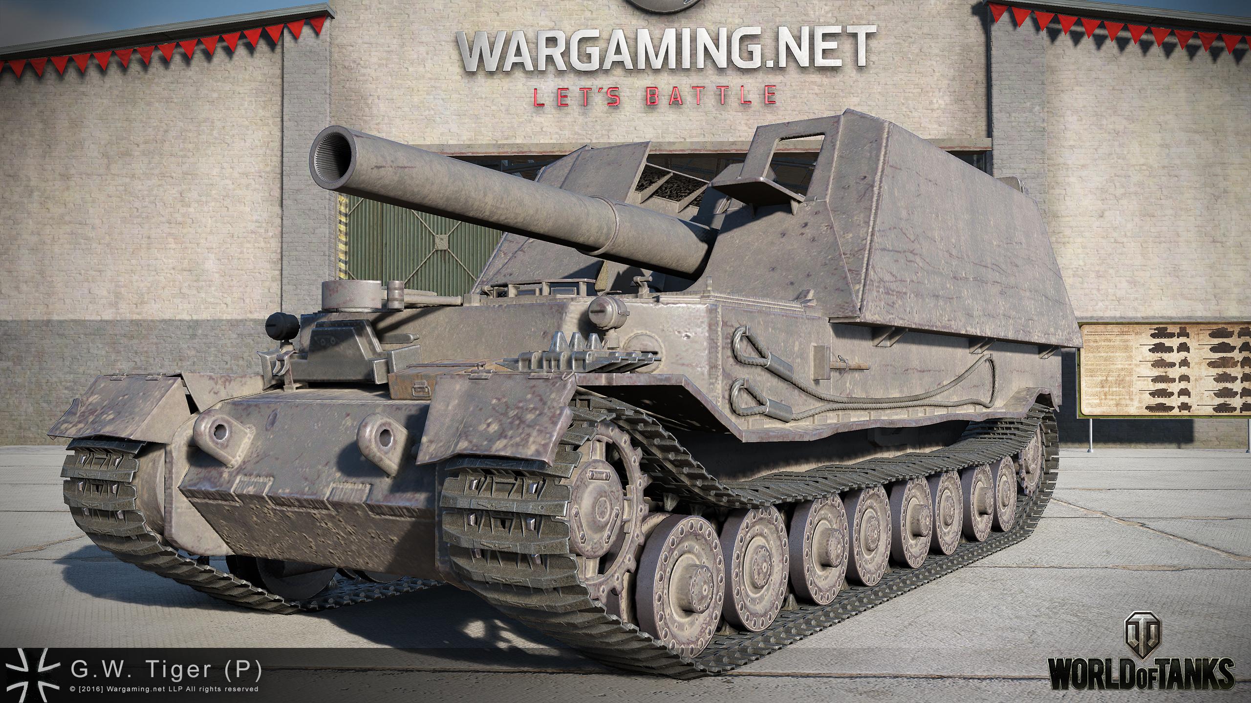 W.tiger World Of Tanks G.W. Tiger (P) HD Rend...