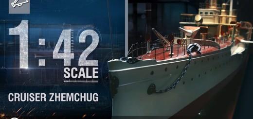 Skala 1:42 – rosyjski krążownik Żemczug