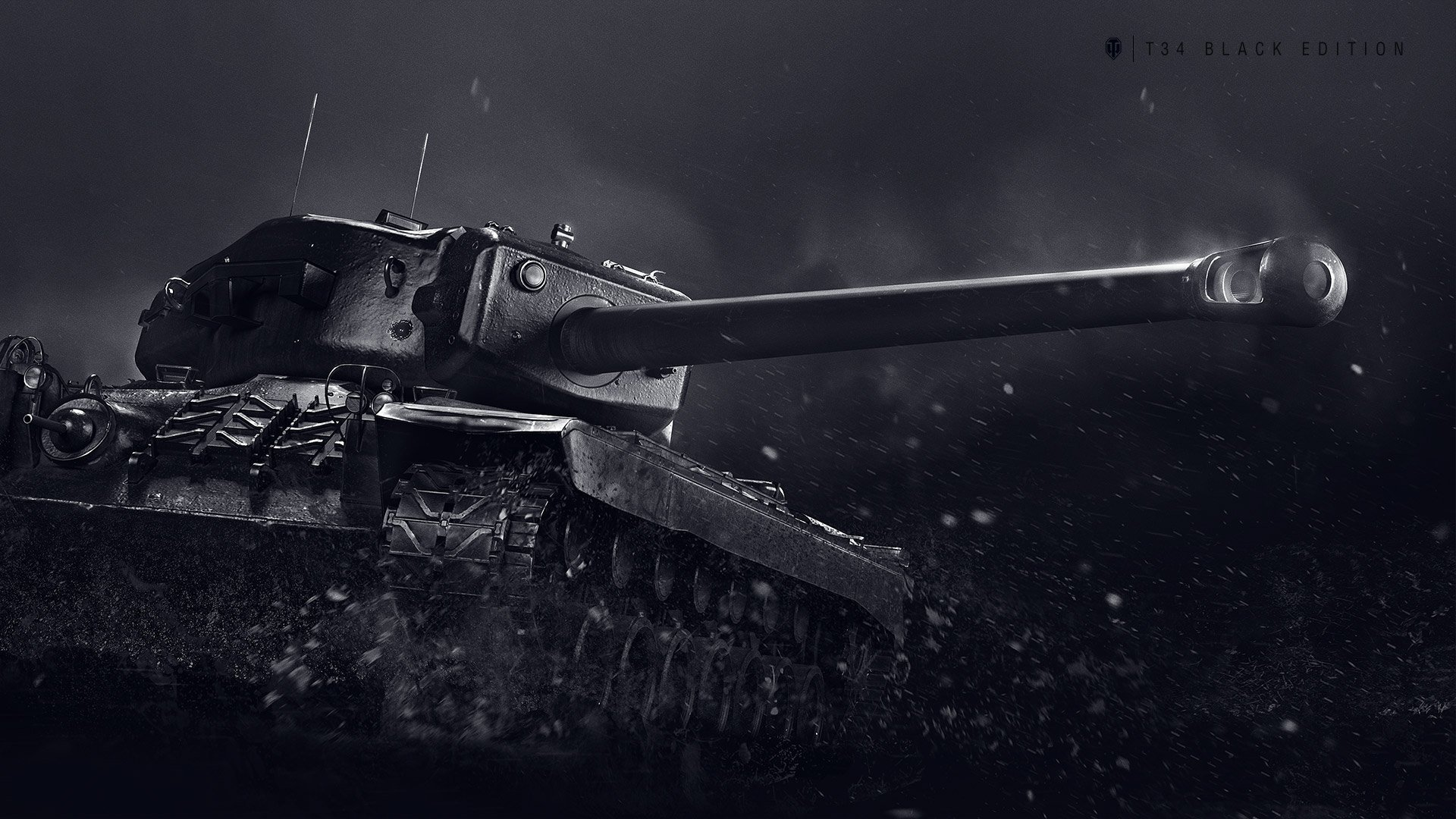 T34 Black Edition Wallpaper - The Armored Patrol