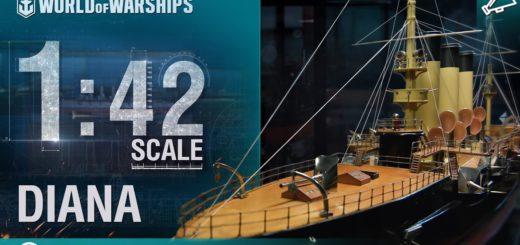Skala 1:42 – Diana, rosyjski krążownik