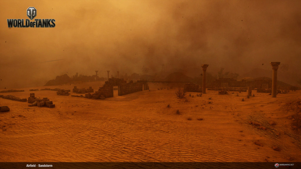 lotnisko burza piaskowa