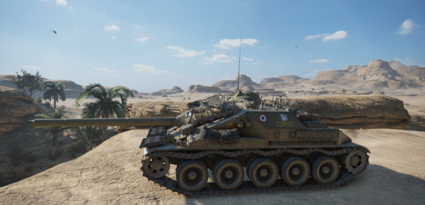 WoTMercenaries_AMX_Canon_d'assaut_105 (TierVIII-TankDestroyer)_Screenshot4